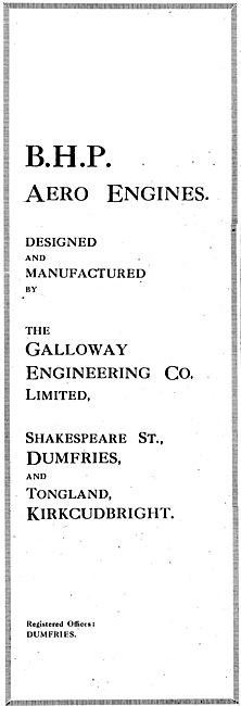 Galloway Engineering, Dumfries. BHP Aero Engines