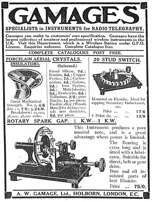 Gamages Radio Telegraphy Instruments
