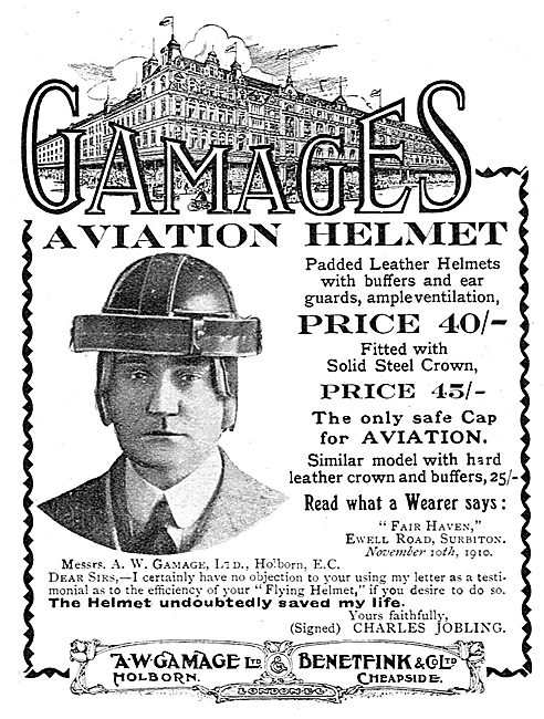 The Gamage Aviaton Helmet