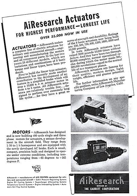 Garrett  AirResearch Actuators