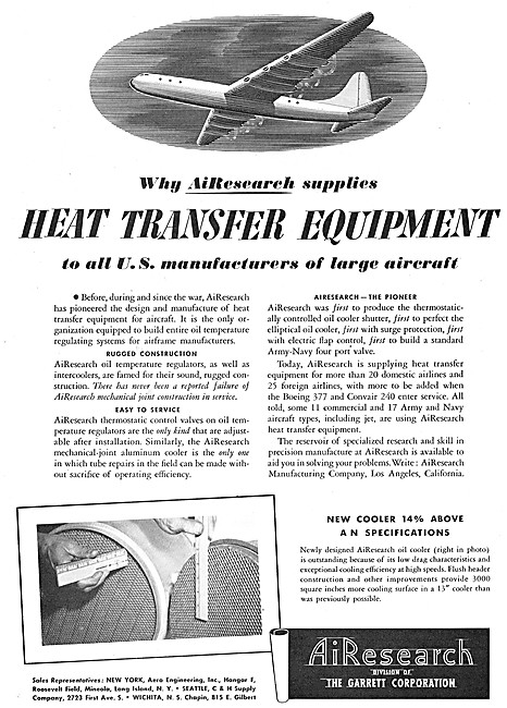 AiResearch Heat Transfer Equipment