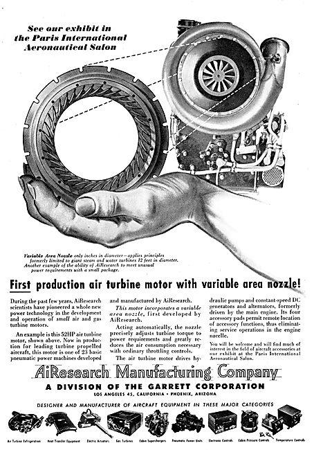 Garrett AiResearch Air Turbine Motor