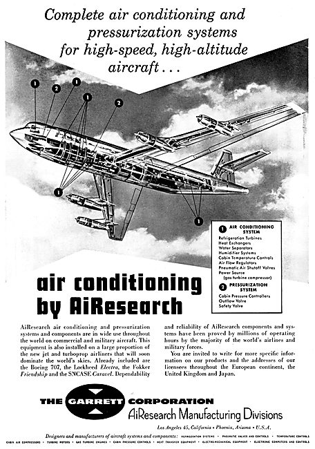 Garrett AiResearch Aircraft Air Conditioning Equipment