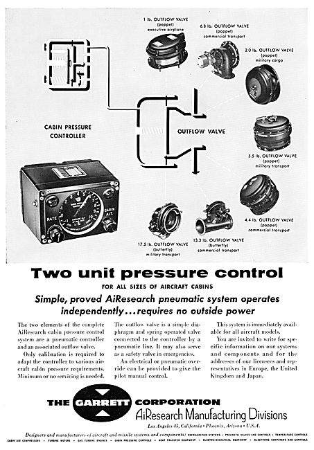Garrett AiResearch Cabin Conditioning Systems