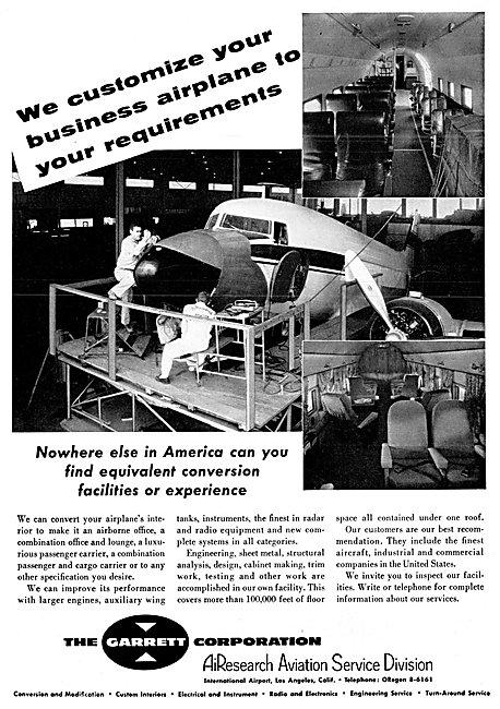 Garrett AirResearch Service Division Aircraft Customisation