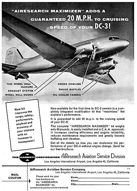 Garrett AirResearch Service Division DC-3 Conversions