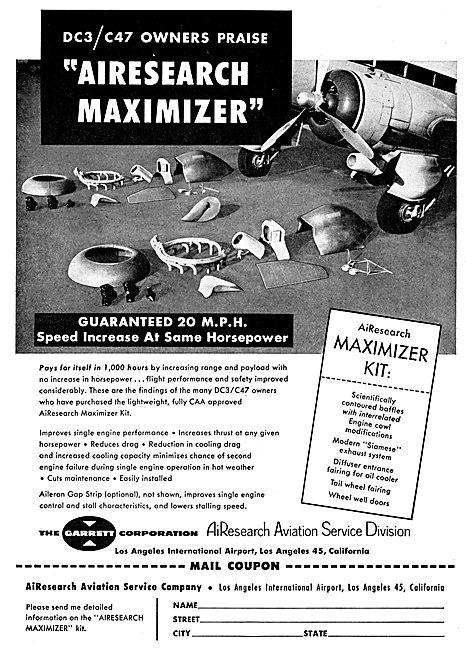 Garrett AiResearch DC3 / C47 Maximizer Kits