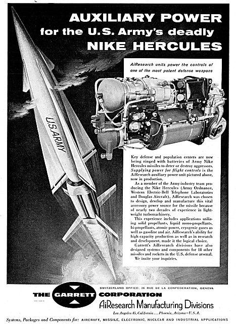 Garrett Power For Nike Hercules Missile Flight Controls