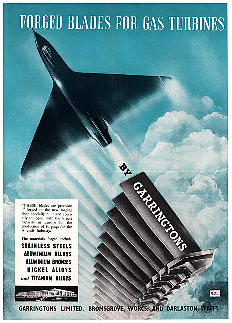 Garringtons Ltd - Precision Forged Blades For Jet Engines