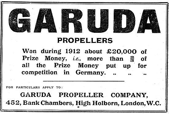 Garuda Propeller Company - Aeroplane Propellers