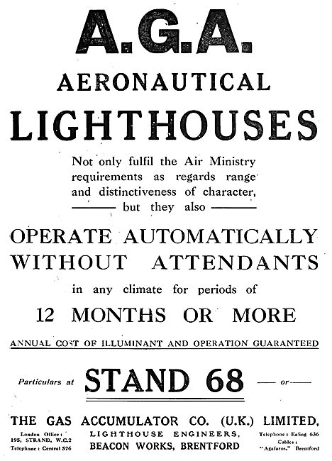 The Gas Accumulator Co - Aerial Lighthouses For Aerodromes