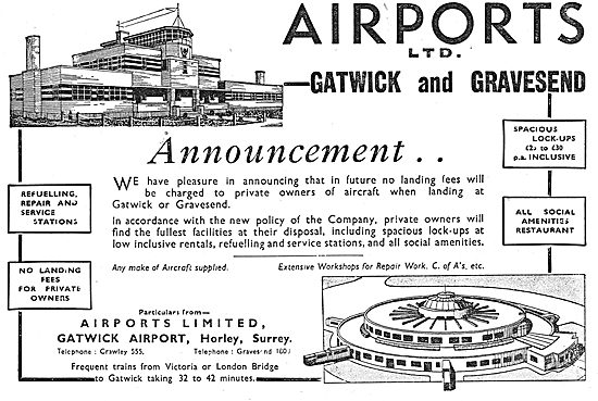 Airports Ltd:  Gatwick Airport - Gravesend Airport