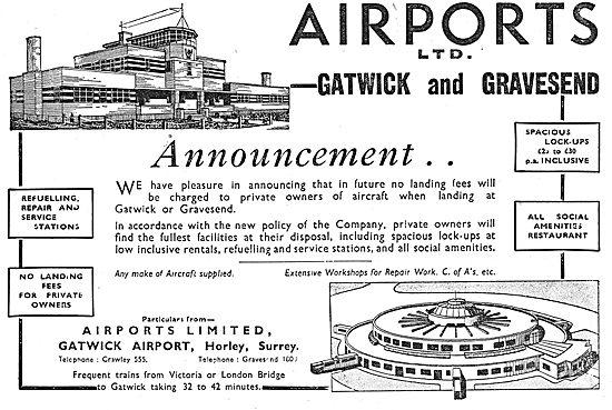 Airports Ltd:  Gatwick Airport - Gravesend Airport