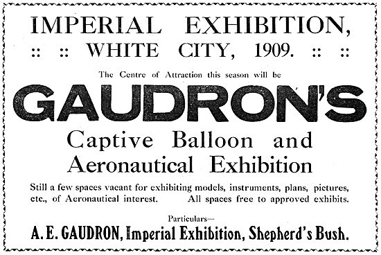 A.E.Gaudron. Captive Balloon & Aeronautical Exhibition. 1909