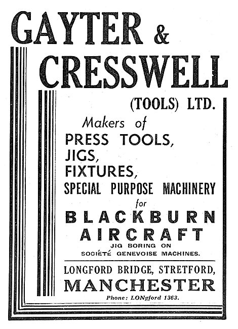 Gayter & Cresswell Press Tools, Jigs & Fixtures