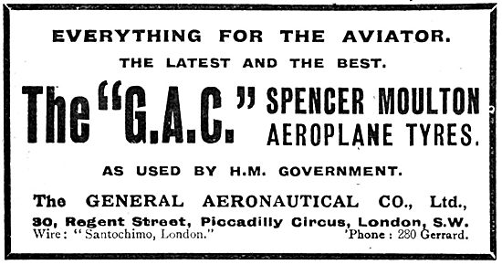 The General Aeronautical Co -Spencer Moulton Aeroplane Tyres