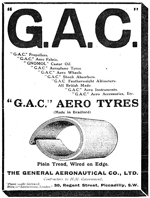 The General Aeronautical Co - G.A.C.Aero Tyres
