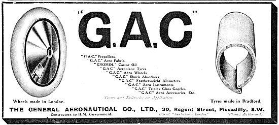 The General Aeronautical Co - Aeroplane Tyres & Accessories