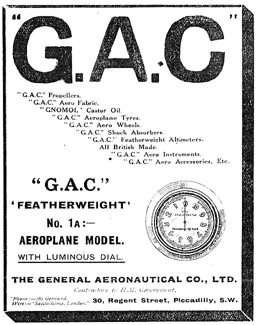 The General Aeronautical Co - G.A.C. Aeroplane Clock