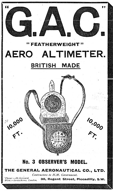 The General Aeronautical Comapny. GAC Aero Altimeter