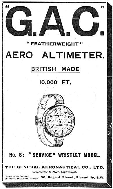 The General Aeronautical Comapny. GAC Aero Altimeter