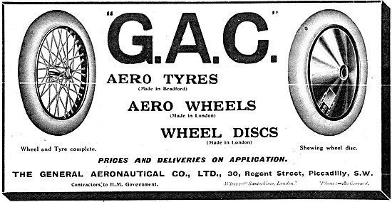 The General Aeronautical Comapny. GAC  Aero Wheels & Tyres