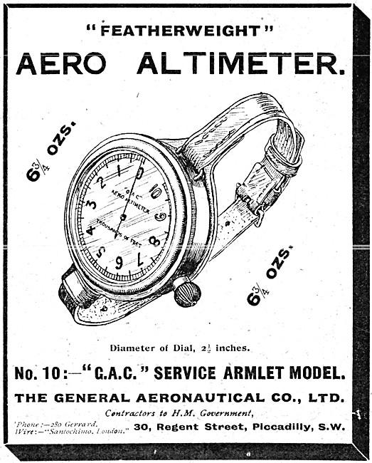 The General Aeronautical Comapny. GAC Wrist Aero Altimeter