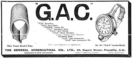 The General Aeronautical Comapny. GAC Aircraft Parts Suppliers