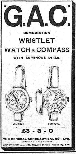 The General Aeronautical Comapny. GAC  Wristlet Watch & Compass