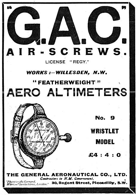 The General Aeronautical Comapny. GAC Aircraft Instruments