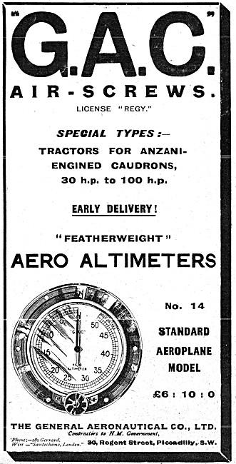 The General Aeronautical Comapny. GAC Altimeters