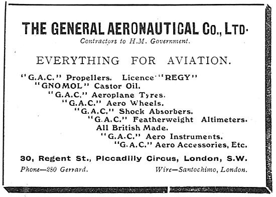 The General Aeronautical Co Ltd Aircraft Parts Stockists