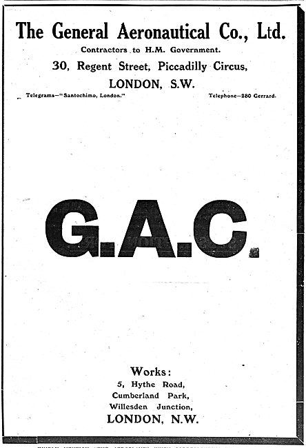 The General Aeronautical Co Ltd Aircraft Parts