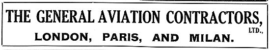 The General Aeronautical Co Ltd - London, Paris & Milan