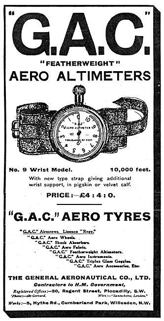 The General Aeronautical Co Ltd Aircraft Parts - Aero Tyres