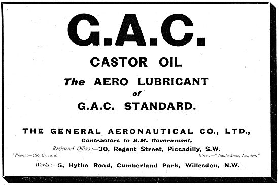 The General Aeronautical Co  - G.A.C Castor Oil