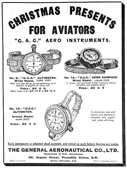 The General Aeronautical Co . G.A.C. Aero Instruments