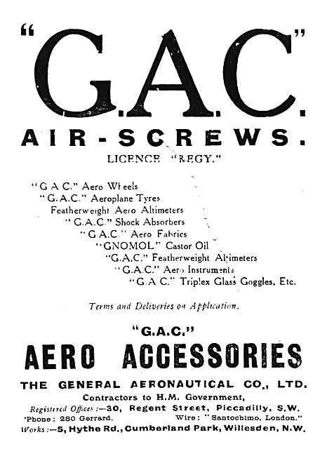 The General Aeronautical Co Ltd Aircraft Airscrews