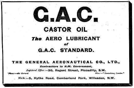 The General Aeronautical Co Ltd  - G.A.C. Castor Oil