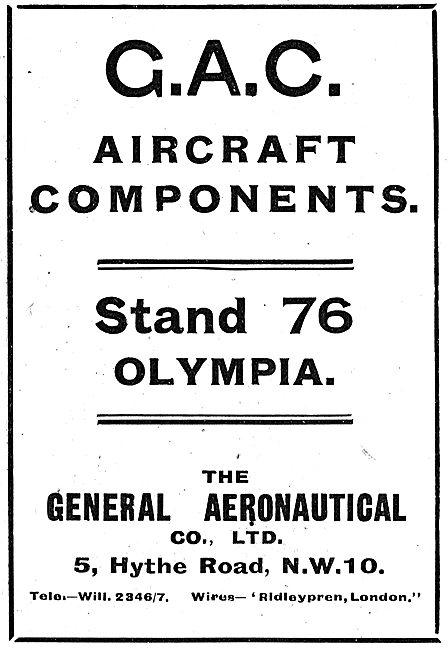 The General Aeronautical Co Ltd Aircraft Parts