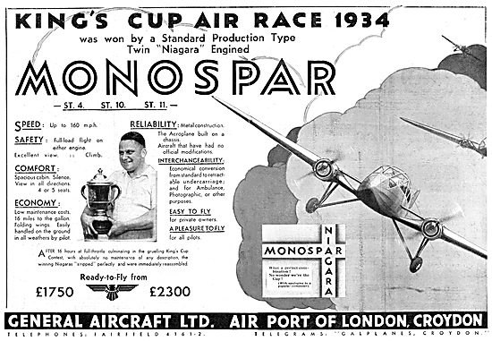 General Aircraft Monospar - King's Cup