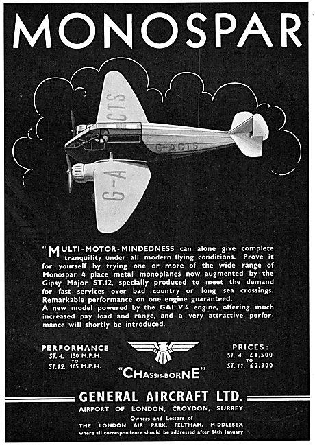 General Aircraft Monospar   G.A.L.V.4