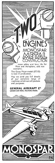 General Aircraft Monospar: Gipsy Major