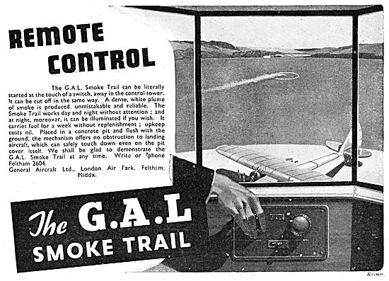 General Aircraft. GAL Electrically Operated Airfield Smoke Trail