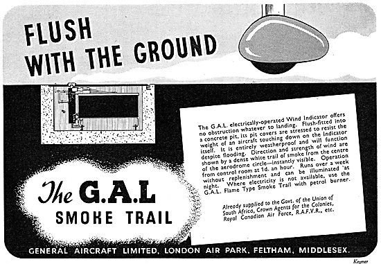 General Aircraft. GAL Airfield Smoke Trail Wind Indicator