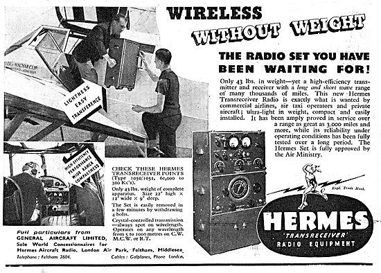 General Aircraft Concessionnaires For Hermes Aircraft Radios