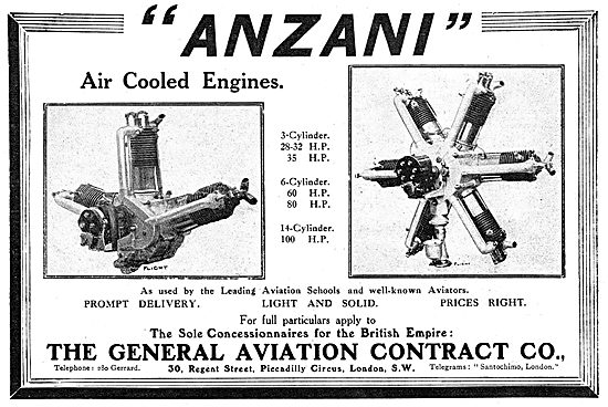 General Aviation Contractors - Anzani Aircraft Engines