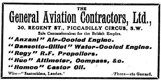 General Aviation Contractors Engine Suppliers