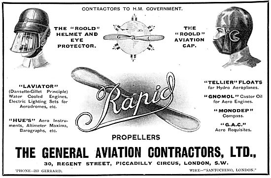 General Aviation Contractors. Rapid Propellers. Roold Helmets