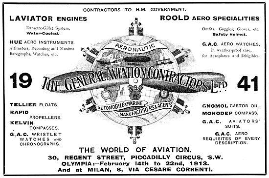 General Aviation Contractors - Aircraft Parts &  Supplies